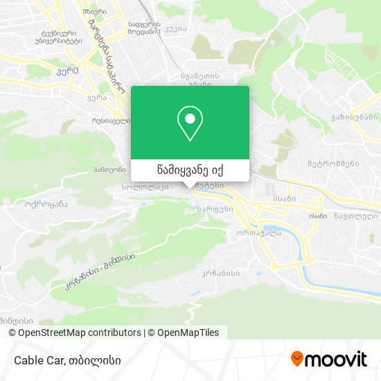 Cable Car რუკა