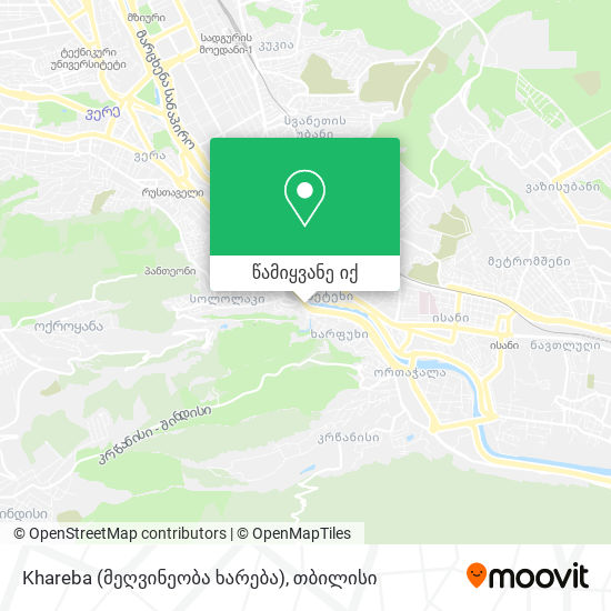 Khareba (მეღვინეობა ხარება) რუკა