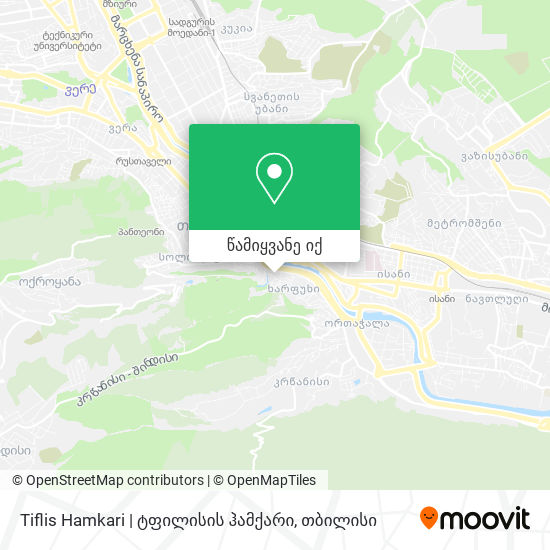 Tiflis Hamkari | ტფილისის ჰამქარი რუკა