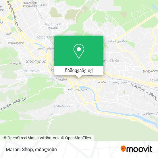 Marani Shop რუკა