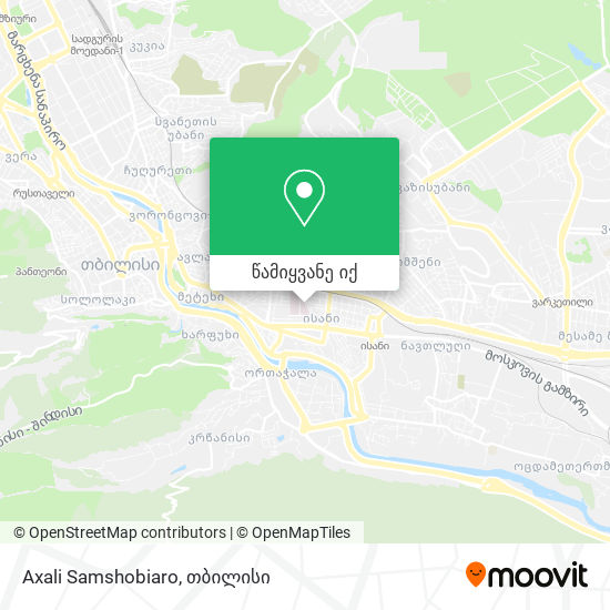 Axali Samshobiaro რუკა
