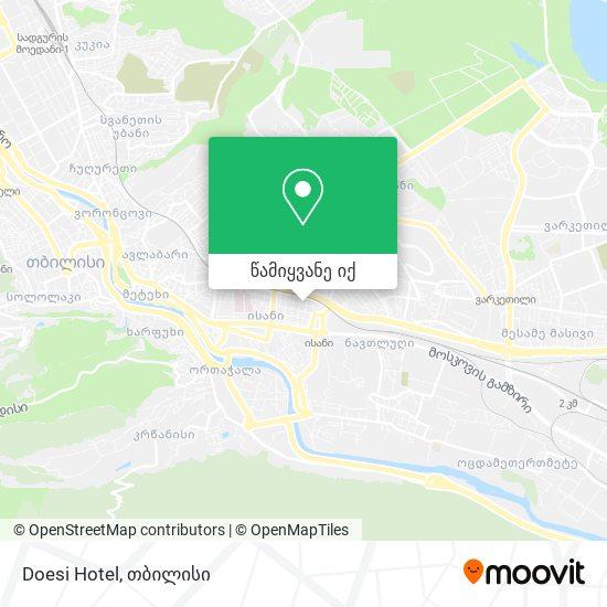 Doesi Hotel რუკა
