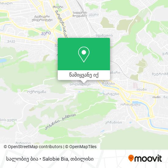 სალობიე ბია • Salobie Bia რუკა