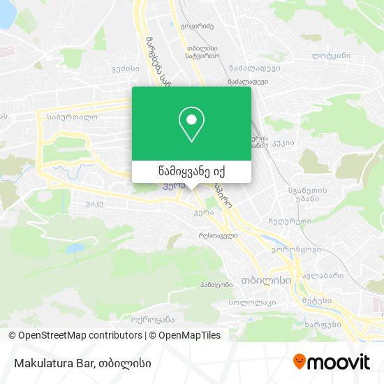 Makulatura Bar რუკა