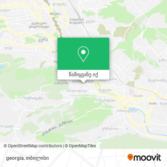 georgia რუკა
