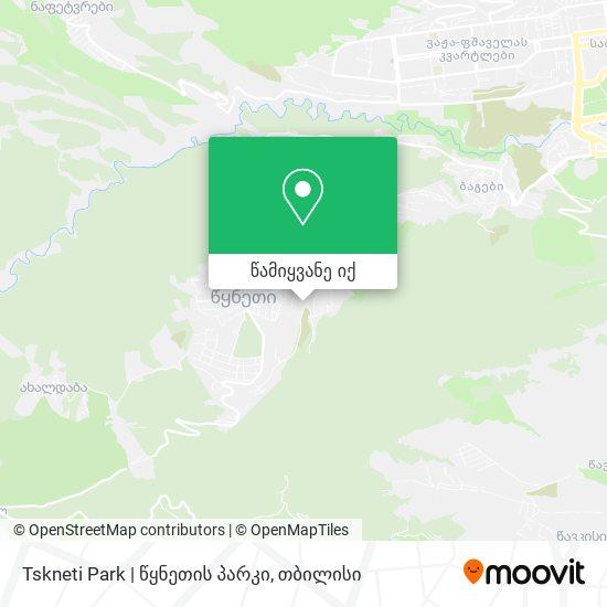 Tskneti Park |  წყნეთის პარკი რუკა