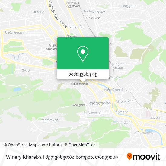 Winery Khareba | მეღვინეობა ხარება რუკა