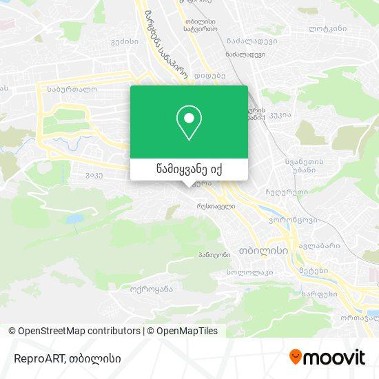ReproART რუკა