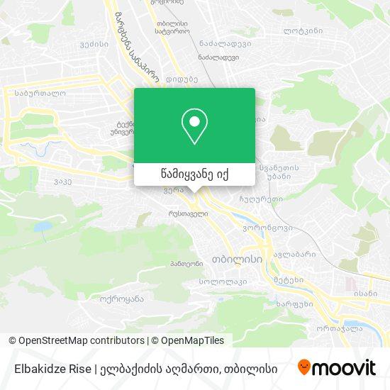 Elbakidze Rise   ელბაქიძის აღმართი რუკა