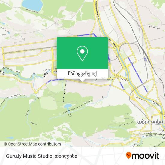 Guru.ly  Music Studio რუკა