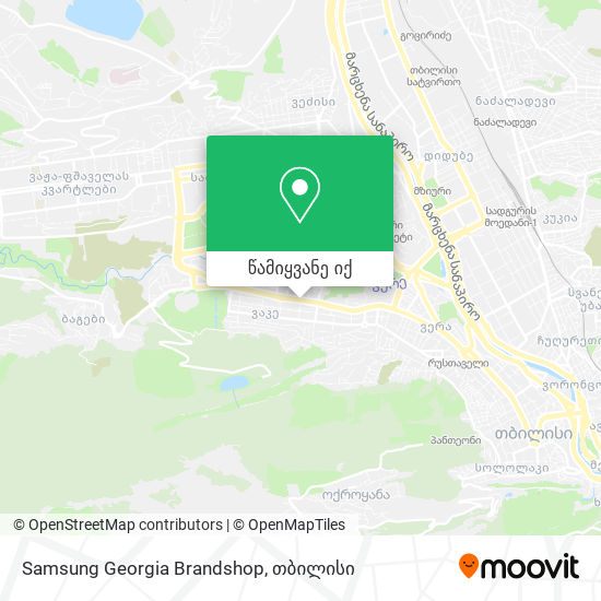 Samsung Georgia Brandshop რუკა