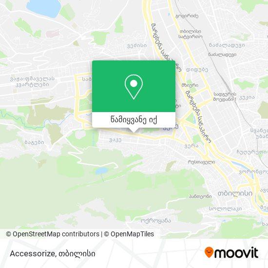 Accessorize რუკა