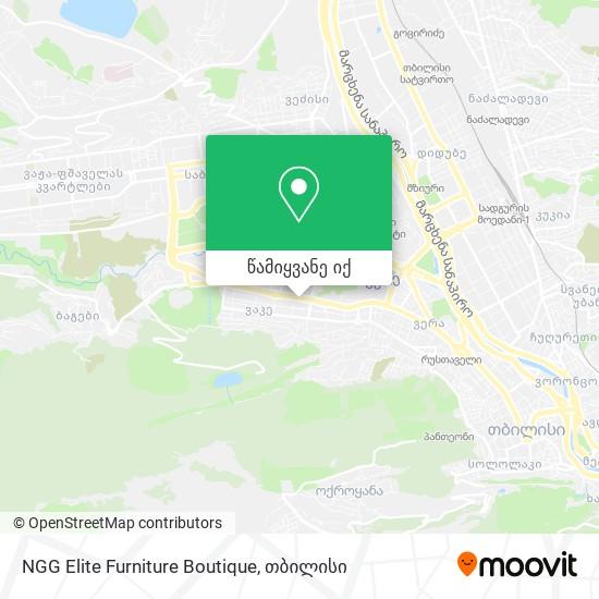 NGG Elite Furniture Boutique რუკა