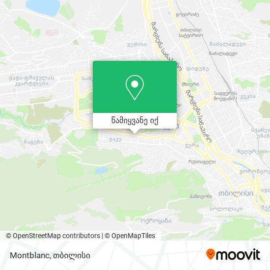 Montblanc რუკა