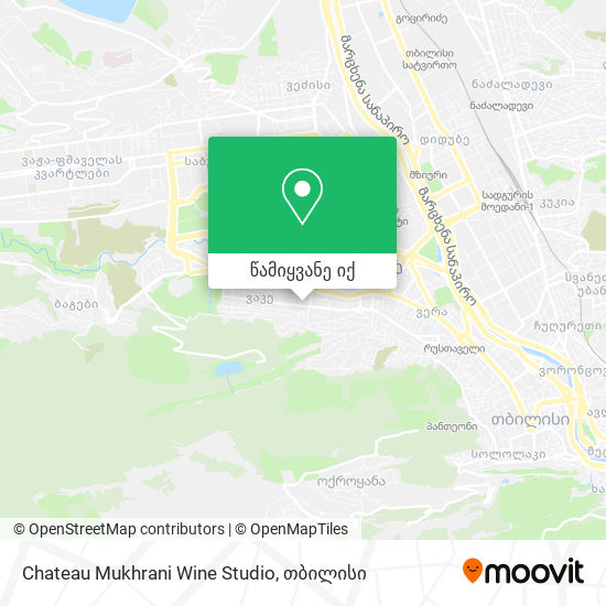 Chateau Mukhrani Wine Studio რუკა