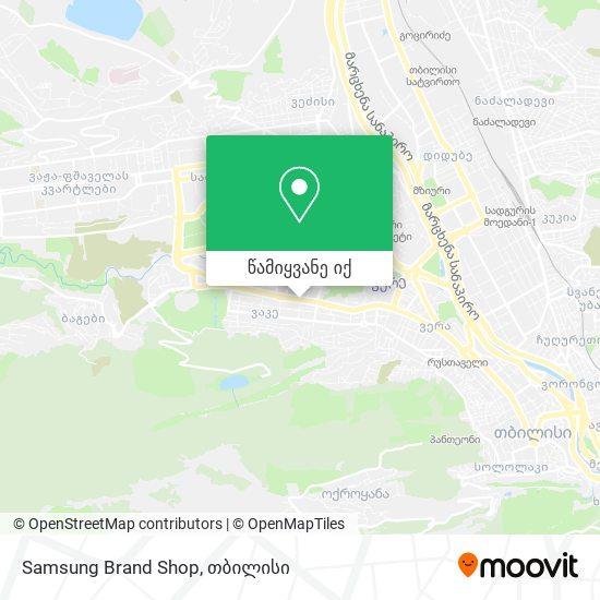 Samsung Brand Shop რუკა
