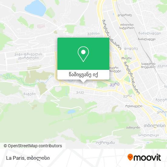 La Paris რუკა