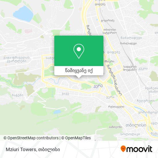 Mziuri Towers რუკა