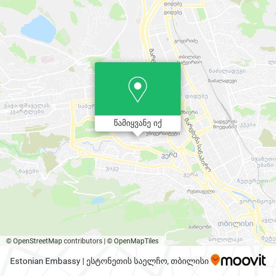 Estonian Embassy | ესტონეთის საელჩო რუკა