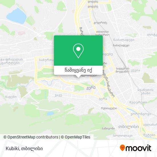 Kubiki რუკა