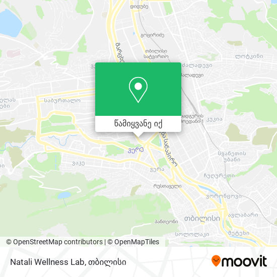 Natali Wellness Lab რუკა
