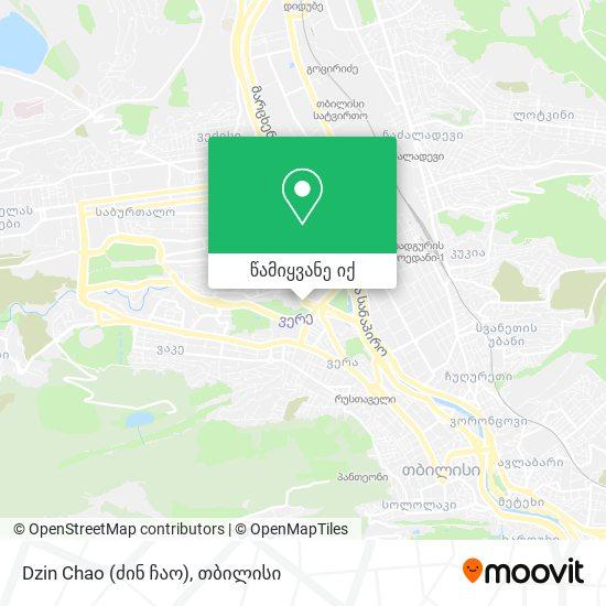 Dzin Chao (ძინ ჩაო) რუკა