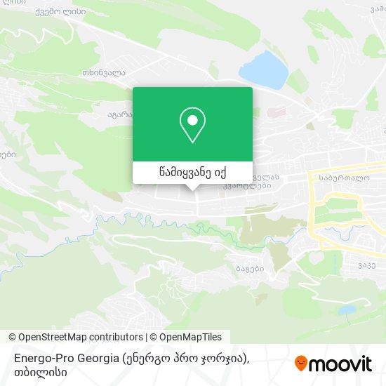 Energo-Pro Georgia (ენერგო პრო ჯორჯია) რუკა