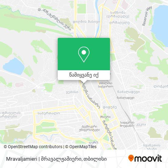Mravaljamieri | მრავალჟამიერი რუკა