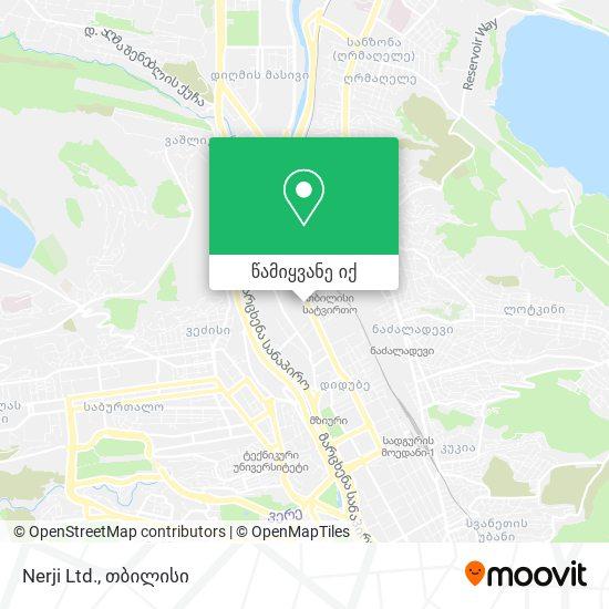Nerji Ltd. რუკა