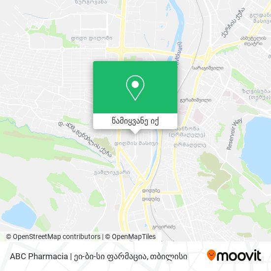 ABC Pharmacia | ეი-ბი-სი ფარმაცია რუკა