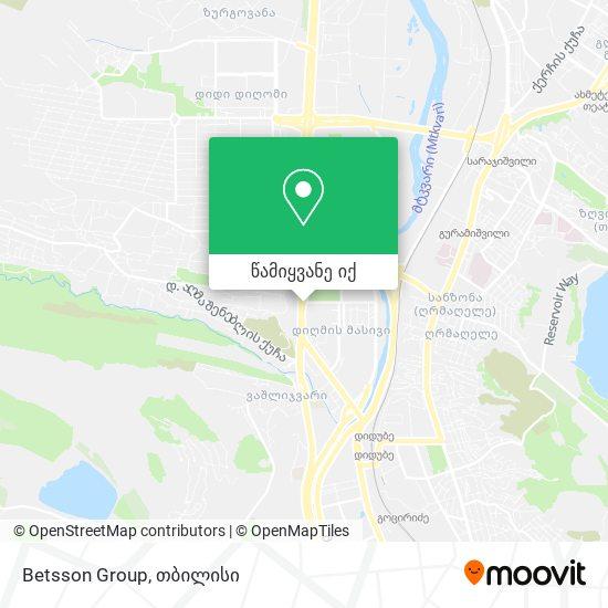 Betsson Group რუკა