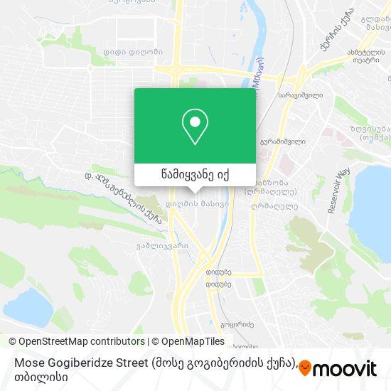 Mose Gogiberidze Street (მოსე გოგიბერიძის ქუჩა) რუკა