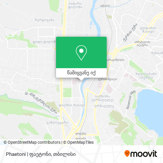 Phaetoni   ფაეტონი რუკა