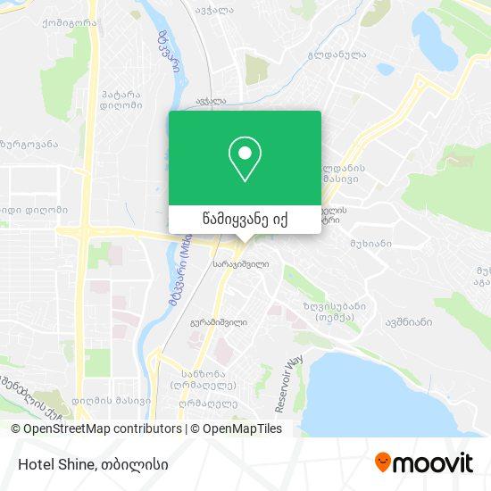 Hotel Shine რუკა