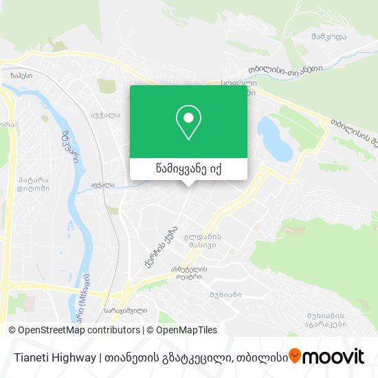 Tianeti Highway   თიანეთის გზატკეცილი რუკა
