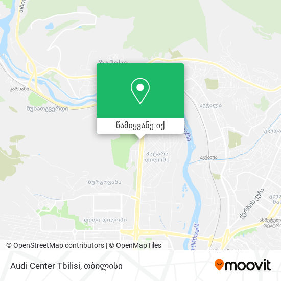 Audi Center Tbilisi რუკა