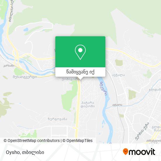 Oysho რუკა