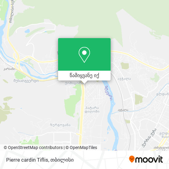Pierre cardin Tiflis რუკა