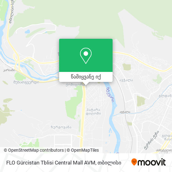 FLO Gürcistan Tblisi Central Mall AVM რუკა