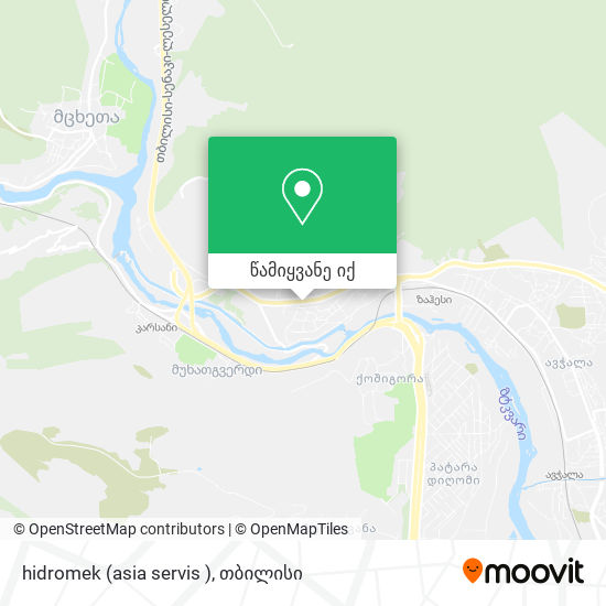 hidromek (asia servis ) რუკა