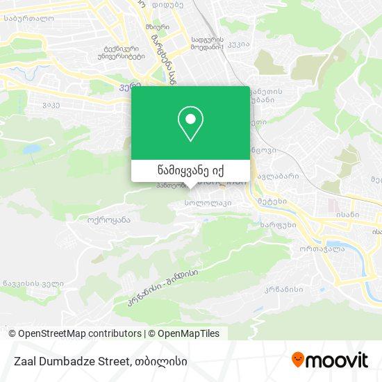 Zaal Dumbadze Street რუკა