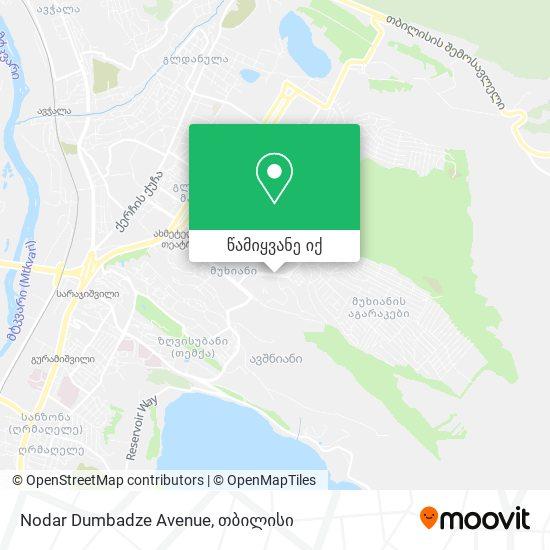Nodar Dumbadze Avenue რუკა