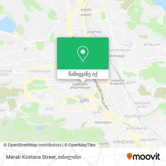 Merab Kostava Street რუკა