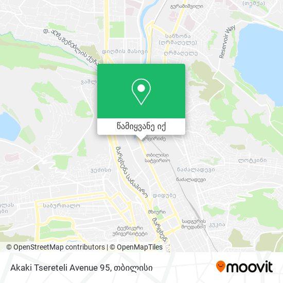 Akaki Tsereteli Avenue 95 რუკა