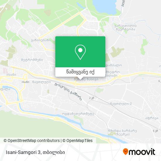 Isani-Samgori 3 რუკა