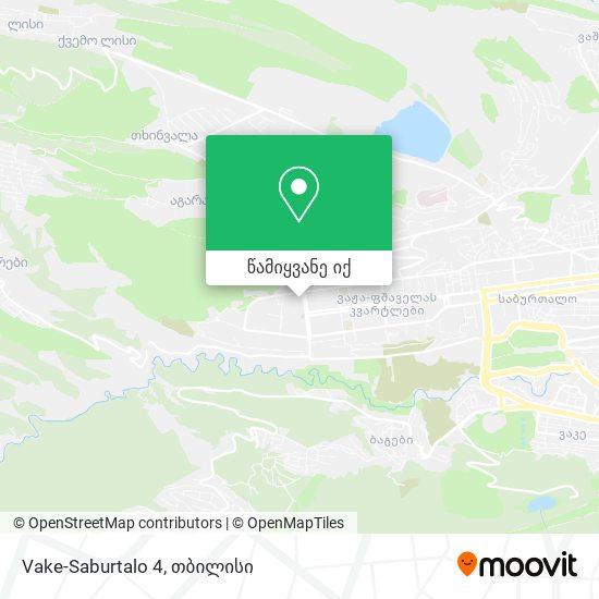 Vake-Saburtalo 4 რუკა