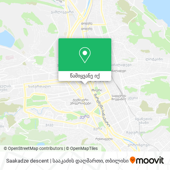 Saakadze descent | სააკაძის დაღმართი რუკა