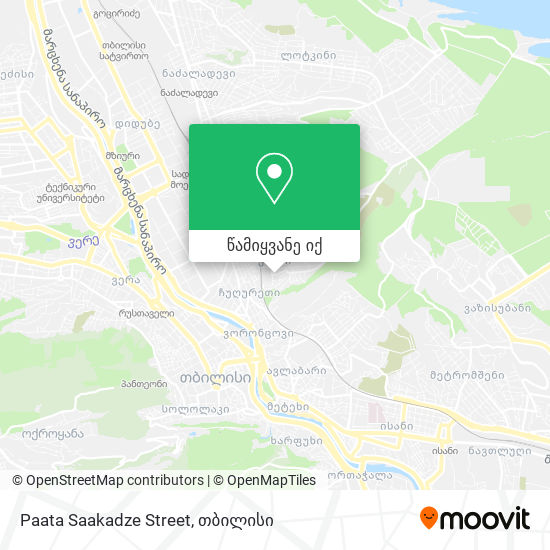 Paata Saakadze Street რუკა