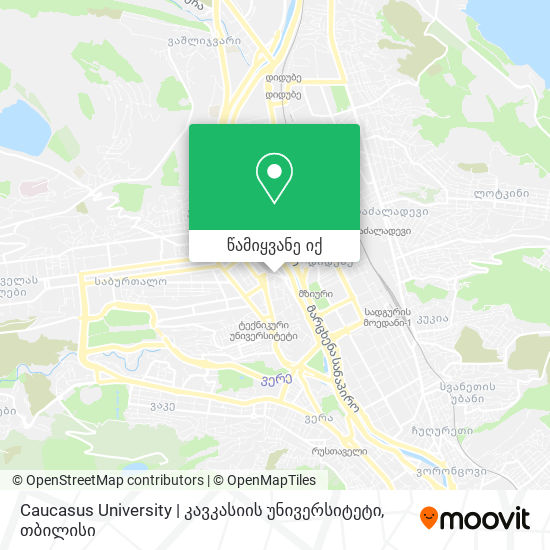 Caucasus University | კავკასიის უნივერსიტეტი რუკა