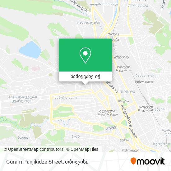 Guram Panjikidze Street რუკა